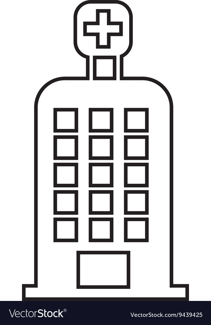 Hospital building isolated icon design