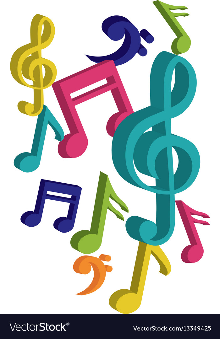 Music Notes Symbol Royalty Free Vector Image Vectorstock