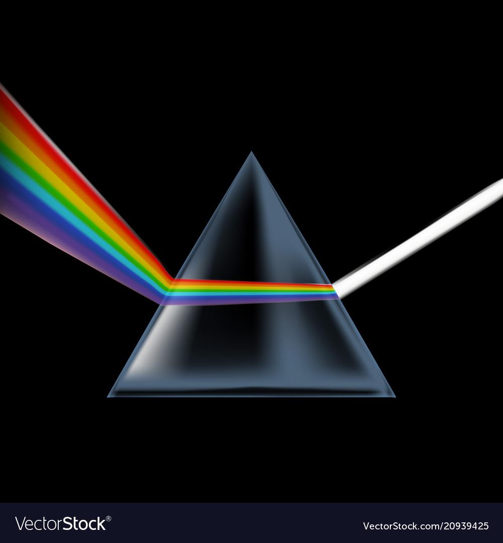 Realistic detailed 3d spectrum prism