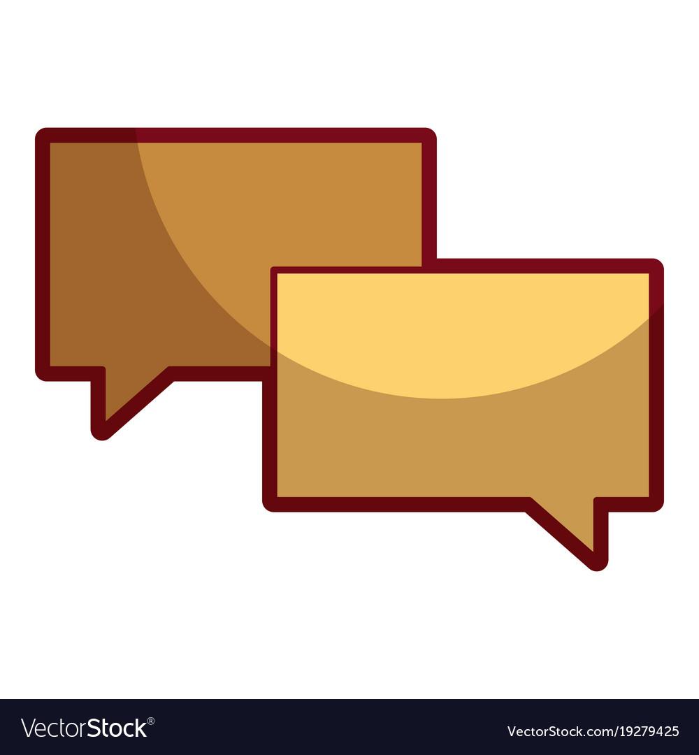 Speech bubbles message talk chat icon