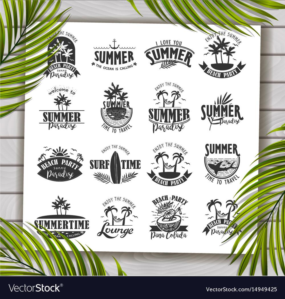 Summer designs on tropical beach background