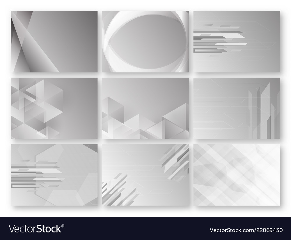Abstract grey background with text space set of