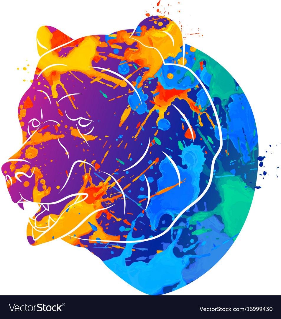 Bear icon abstract