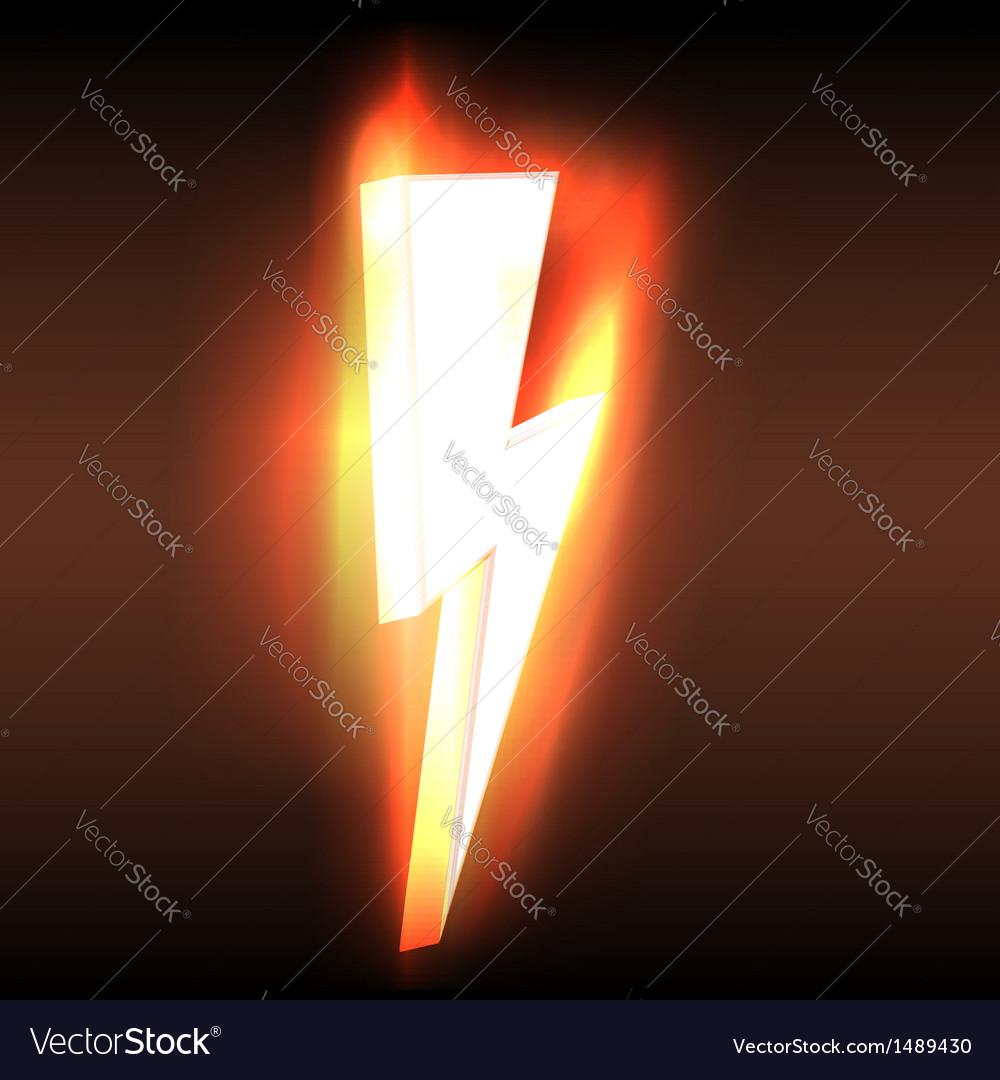 Burning blazing power lightning arrow vector image