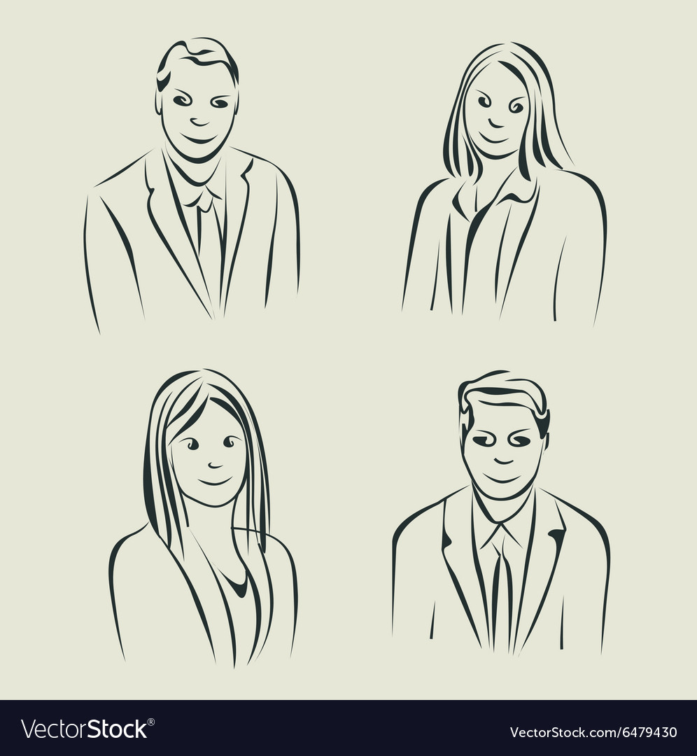 Characters design Faces sketch