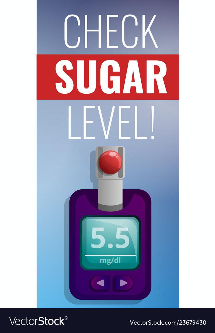 Check sugar level concept banner cartoon style
