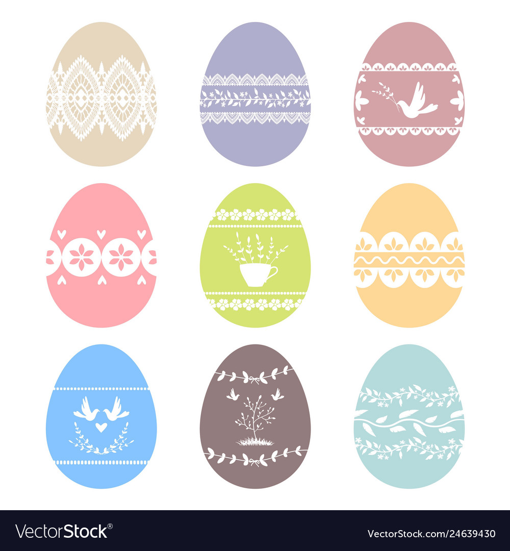 Collection of decorated easter eggs images