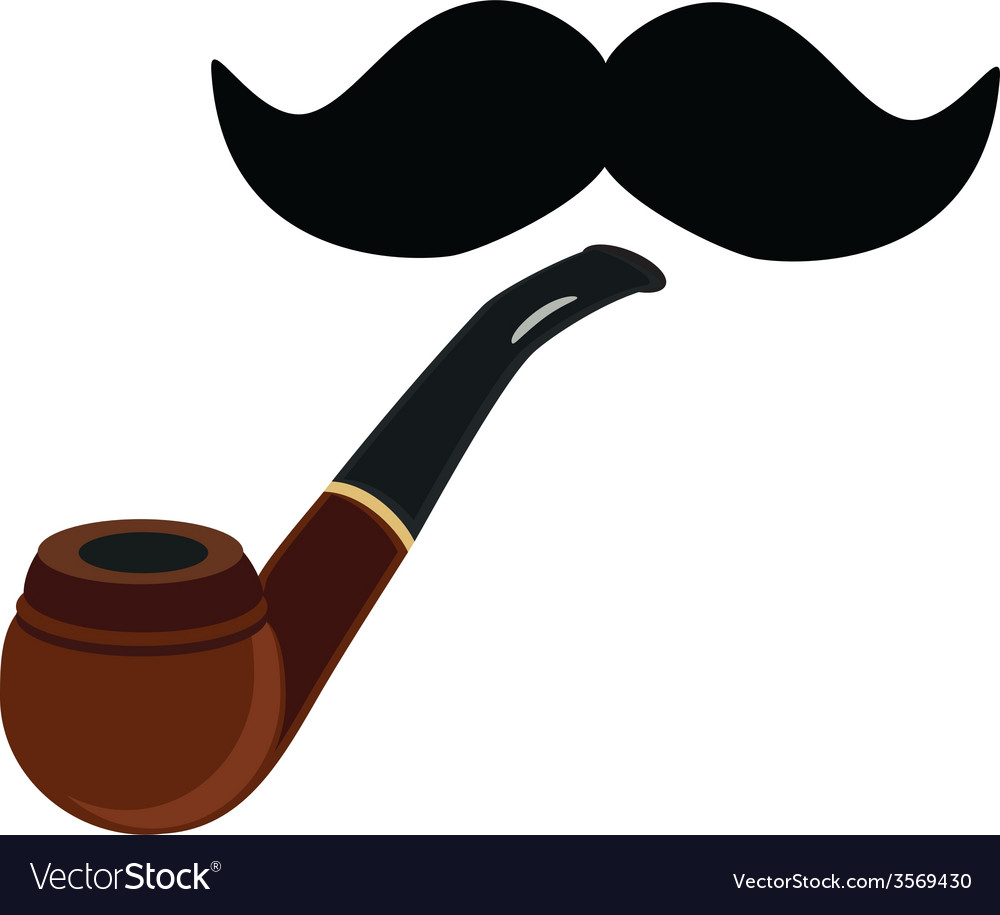 Smoking pipe and mustache