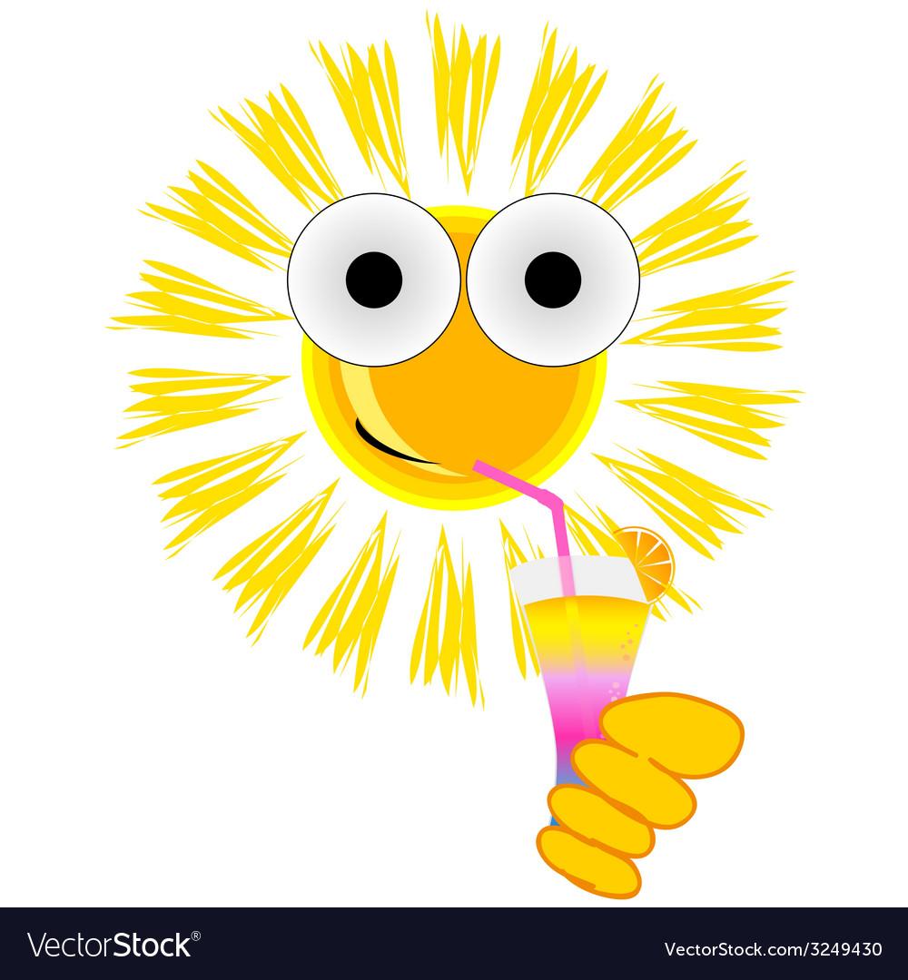 Sun drink cocktail cartoon