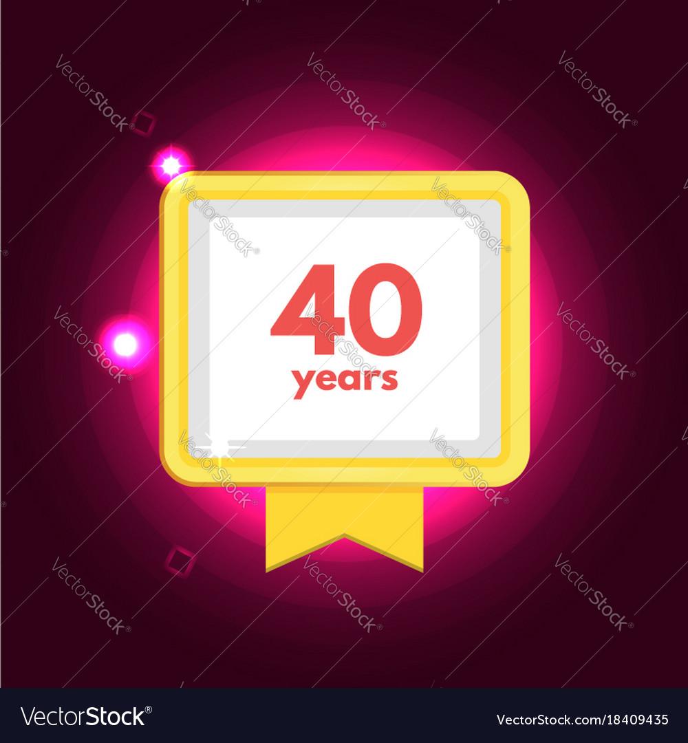 Anniversary 40 icon