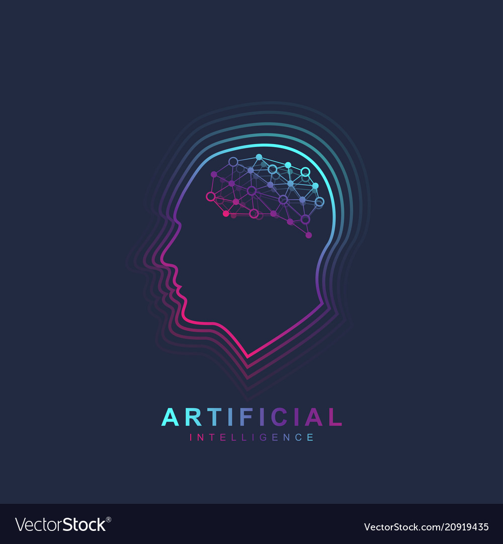 Artificial intelligence and machine learning logo