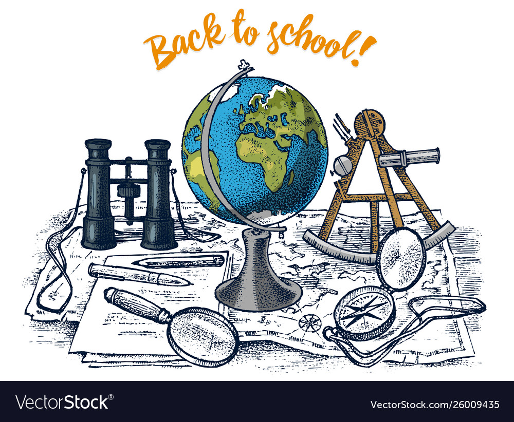 Back to school poster geography banner for web
