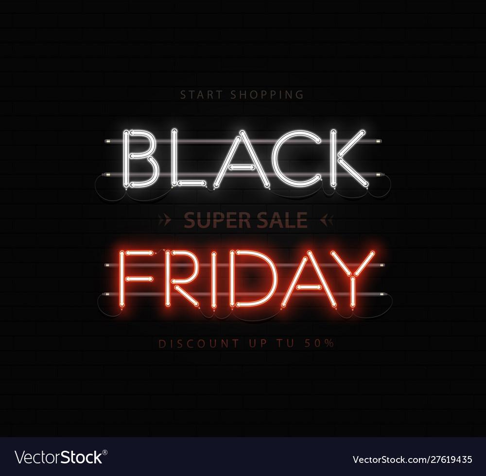 Black friday sale banner poster logo black