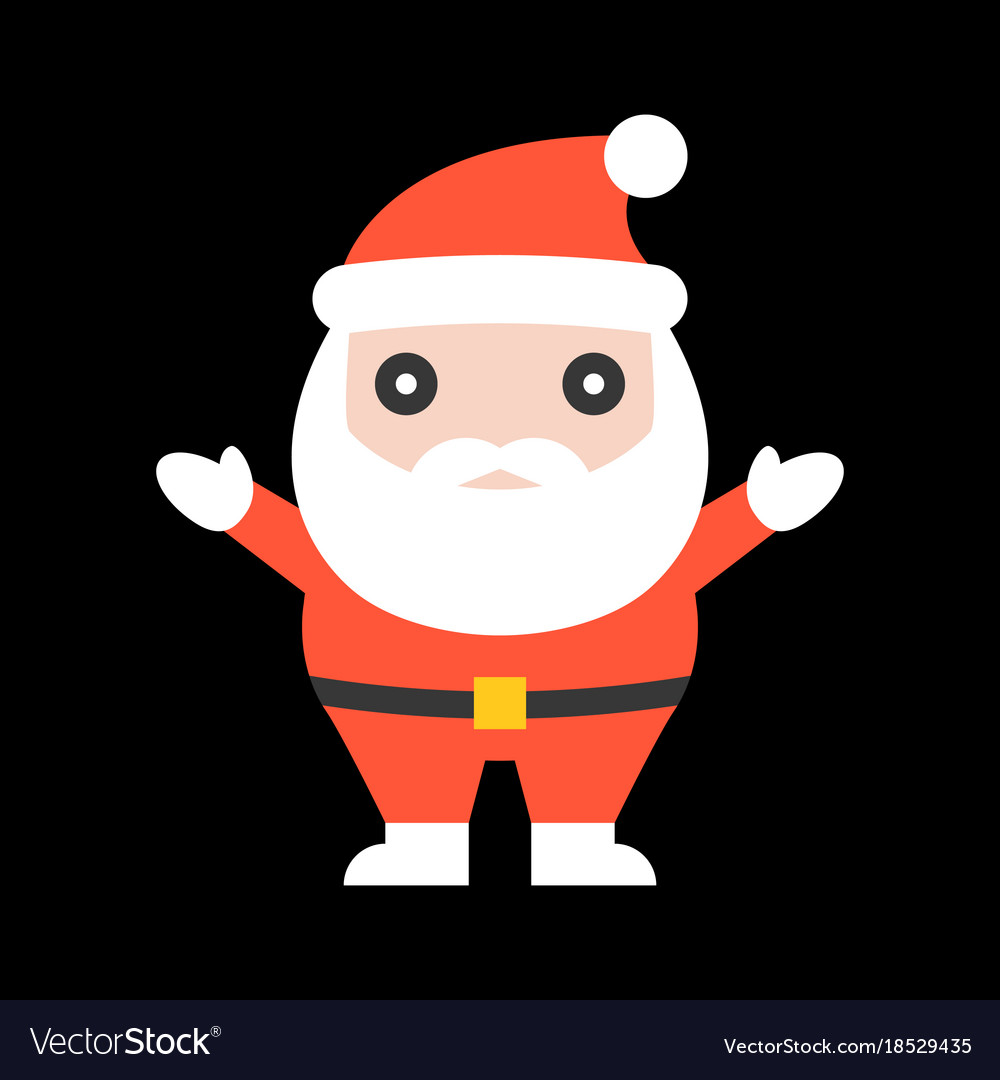 Cute santa claus for christmas vector image