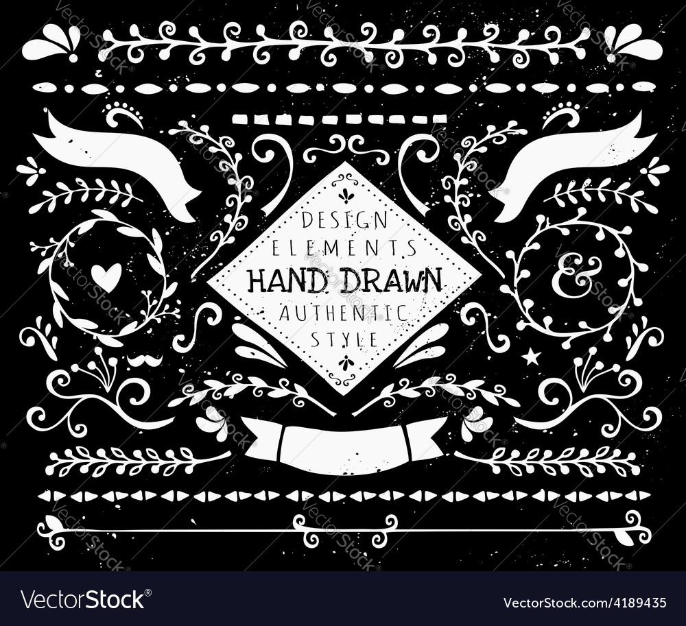 Hand sketched design elements
