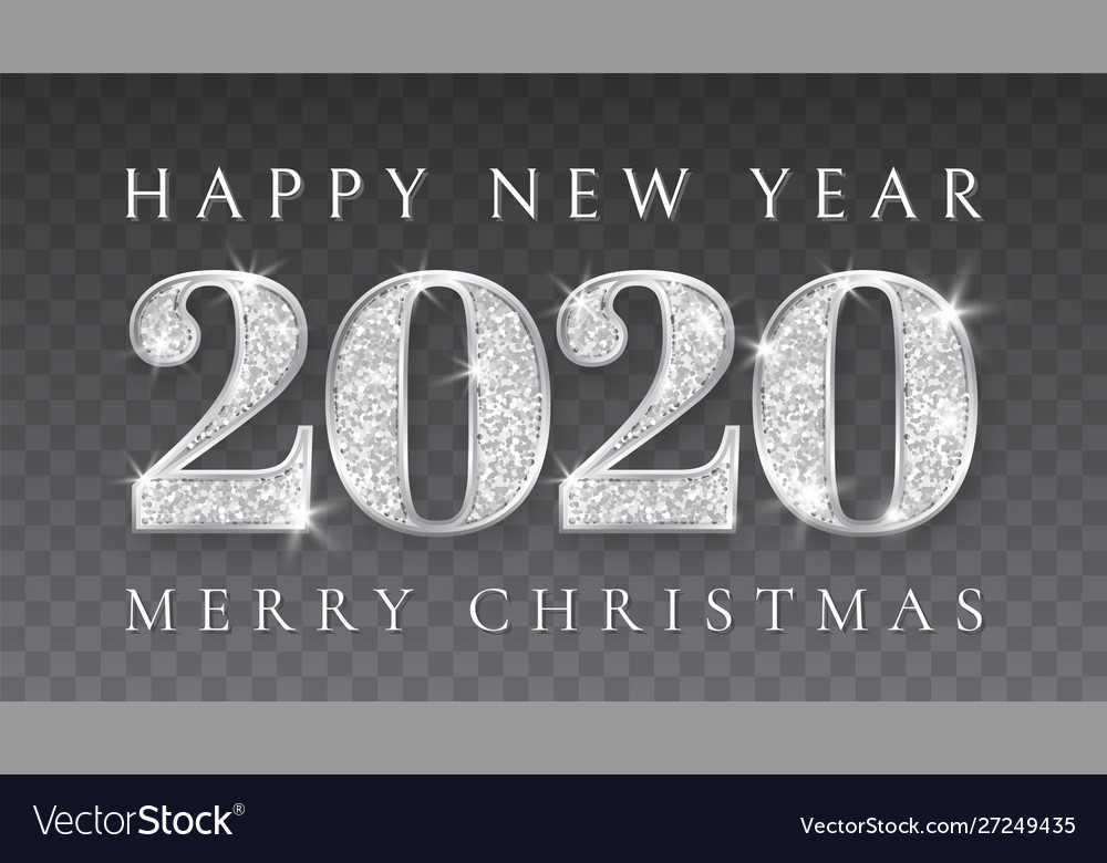 Happy new year and marry christmas 2020 silver