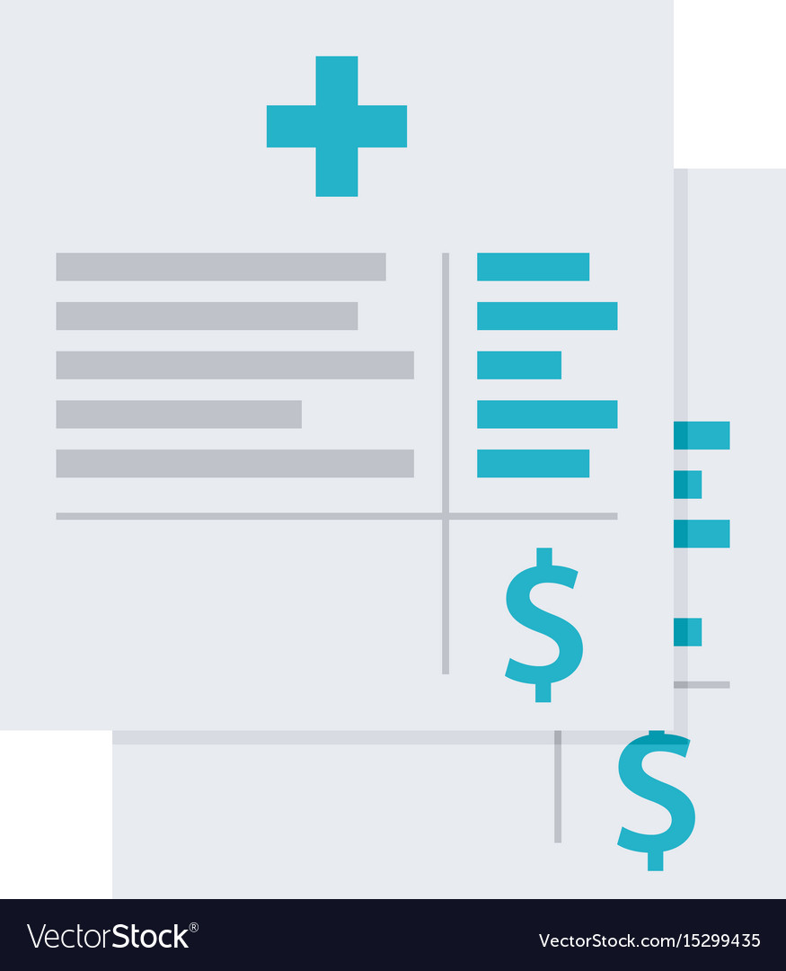 medical invoice or hospital bills icon royalty free vector