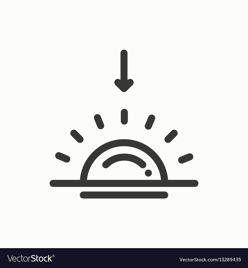 Sun line simple icon weather symbols sunrise