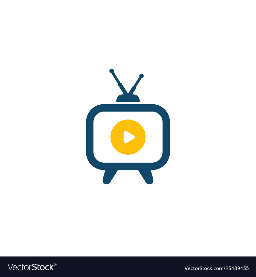 Tv with antenna icon