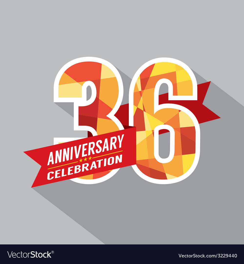 36th Years Anniversary Celebration Design