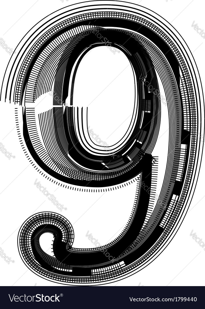 Abstract font number 9