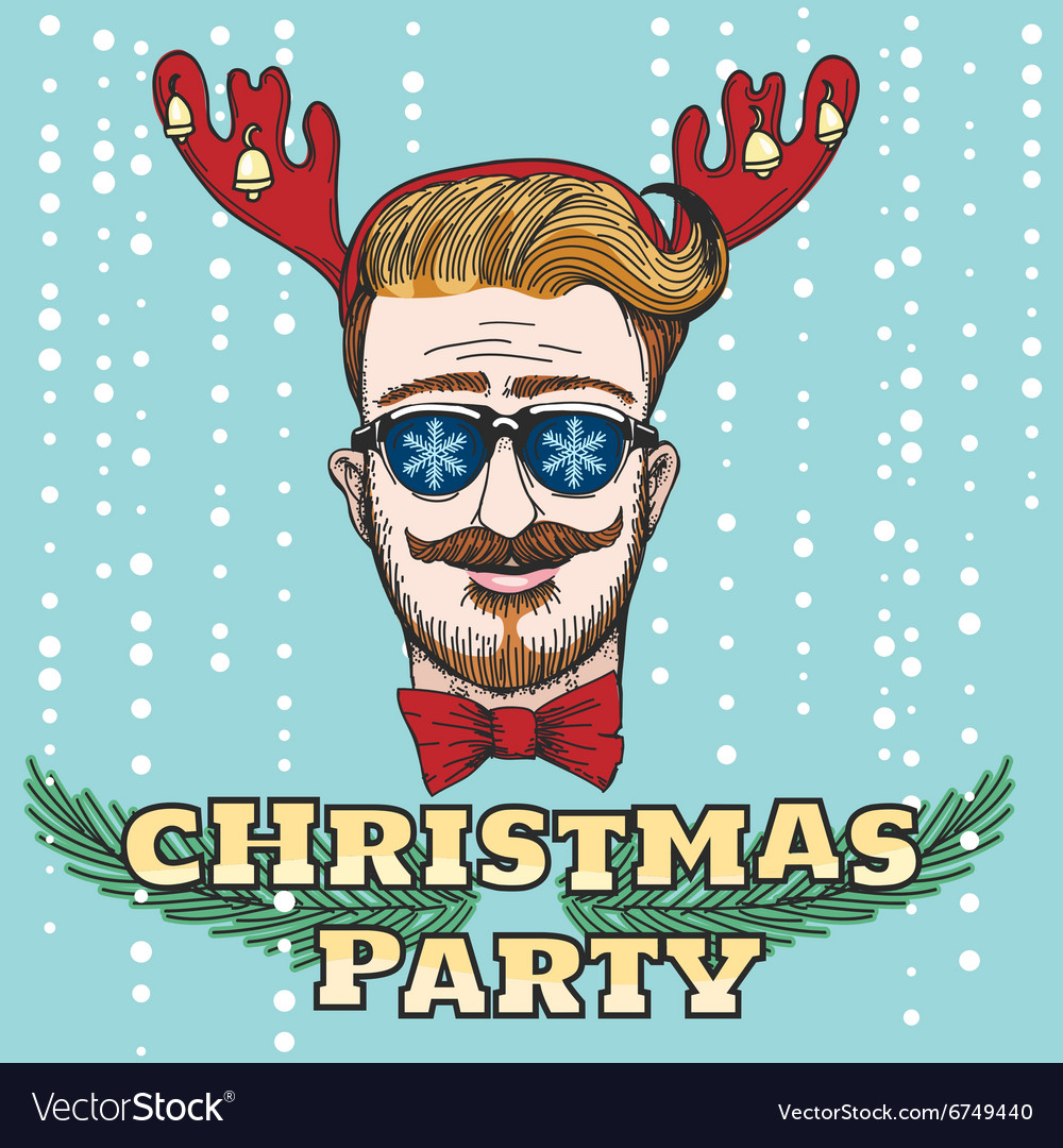 Hipster Christmas Party Design