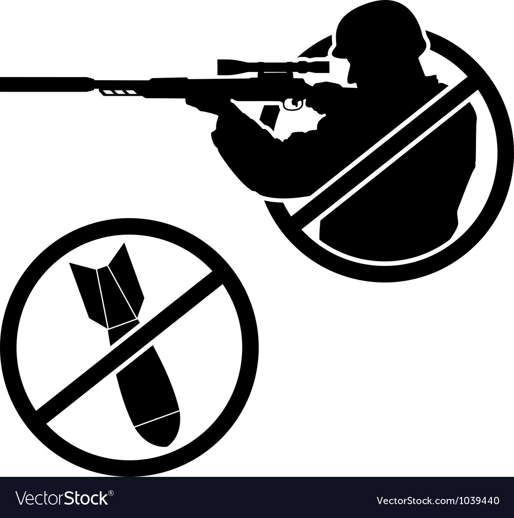 No war stencil