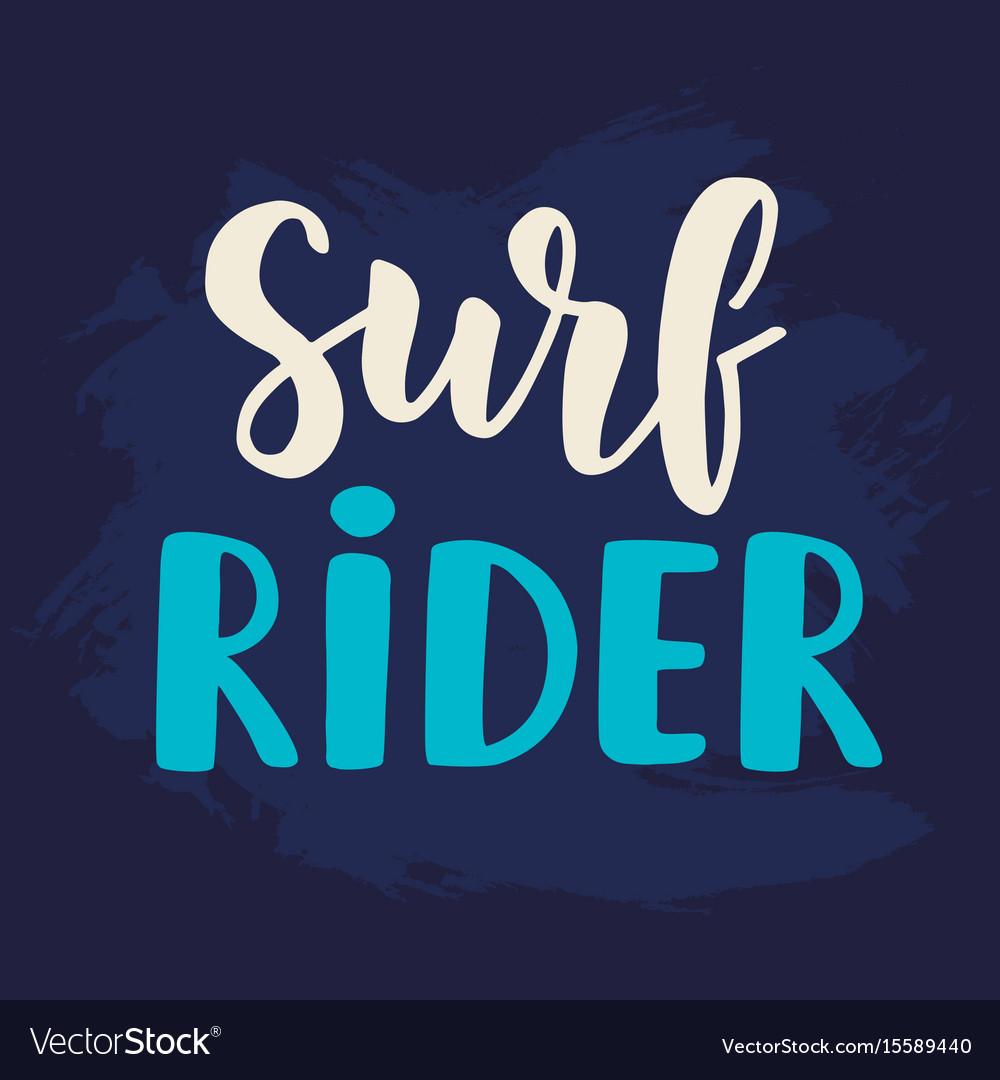 Surf rider poster surfing theme