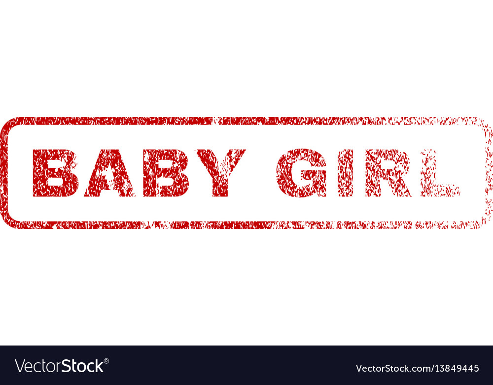 Baby girl rubber stamp