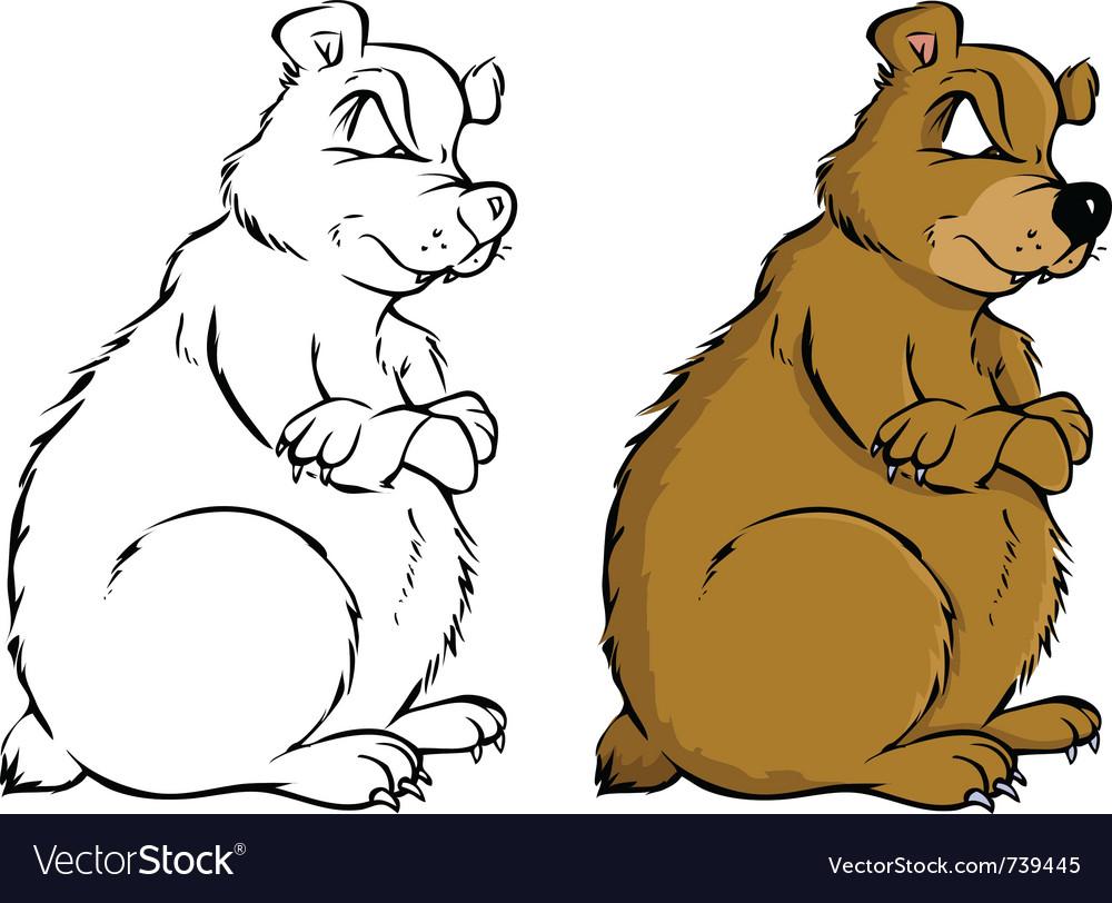 Bear coloring book Royalty Free Vector Image - VectorStock