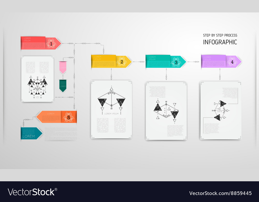 Infographic design template linear thin original