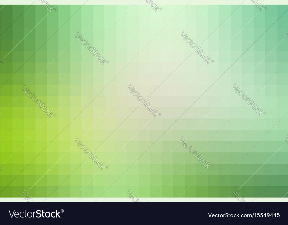Light green shades mosaic square tiles background