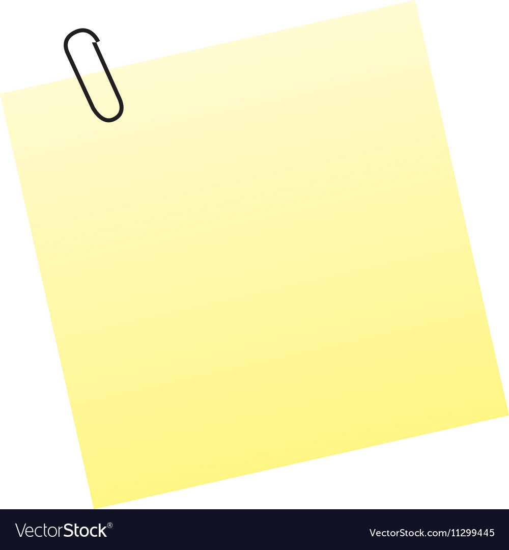 Sticky or adhesive note icon image vector image