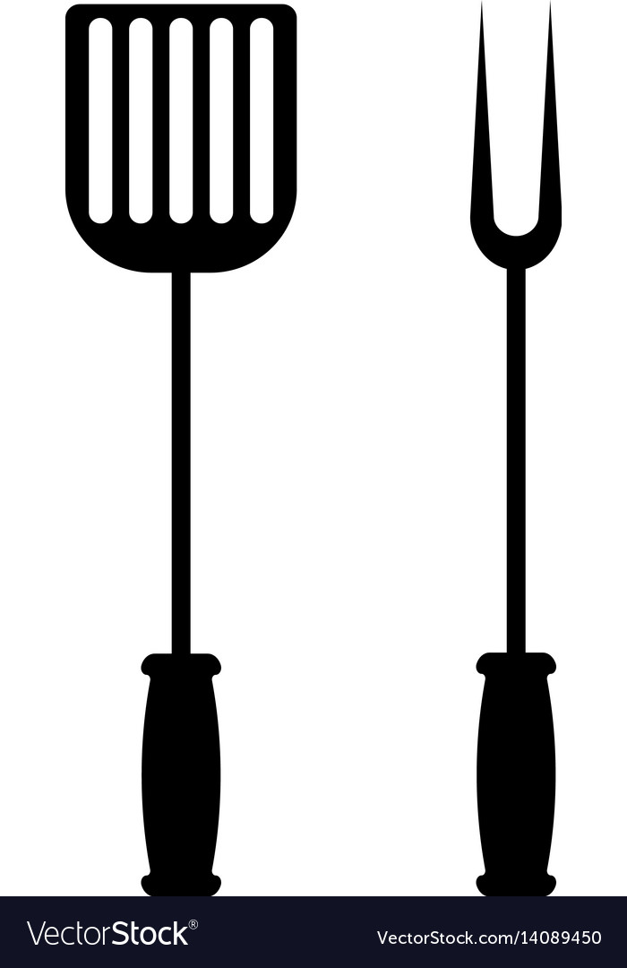 Bbq or grill tools icon