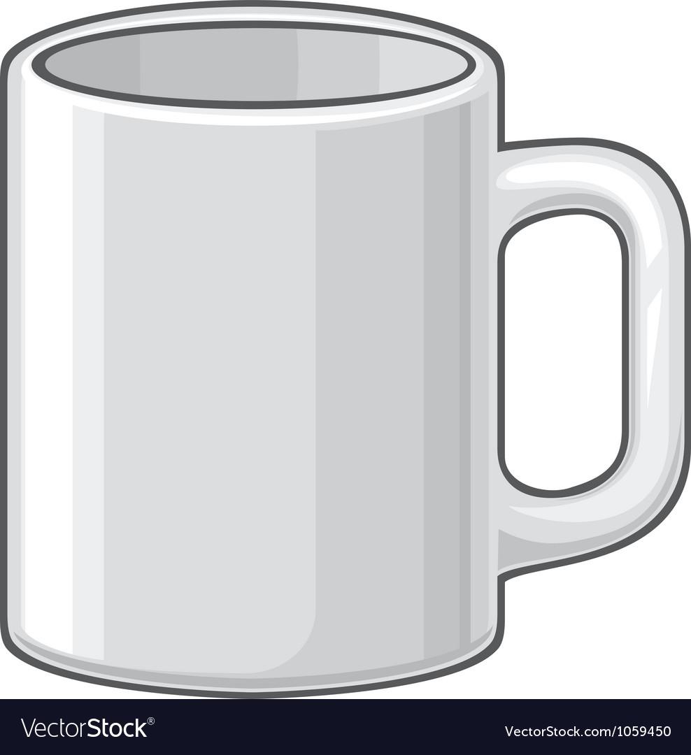 Coffee mug - white cup vector image