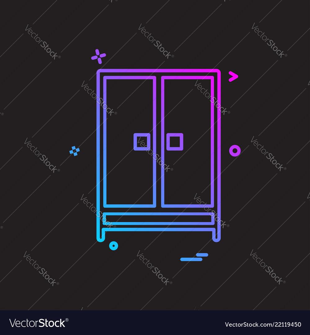 Cupboard icon design Royalty Free Vector Image