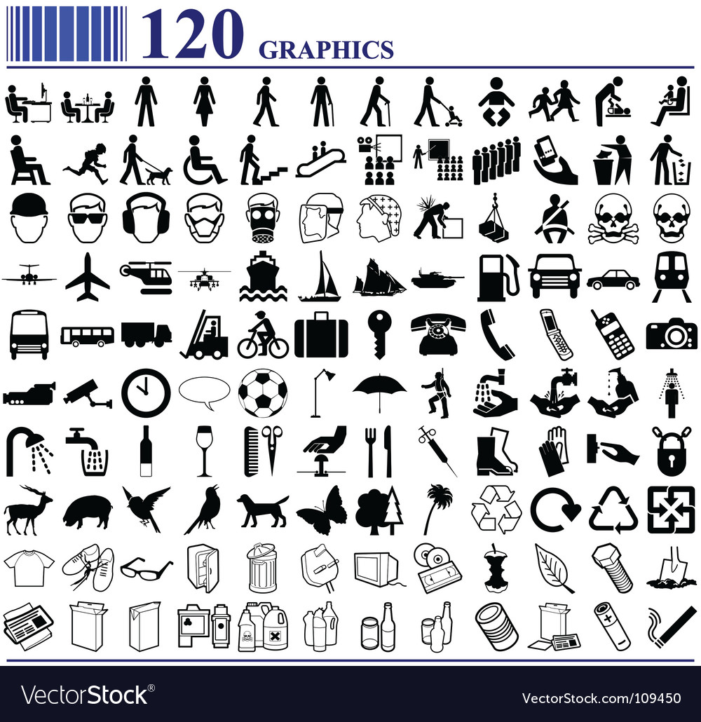 Everyday icons vector image