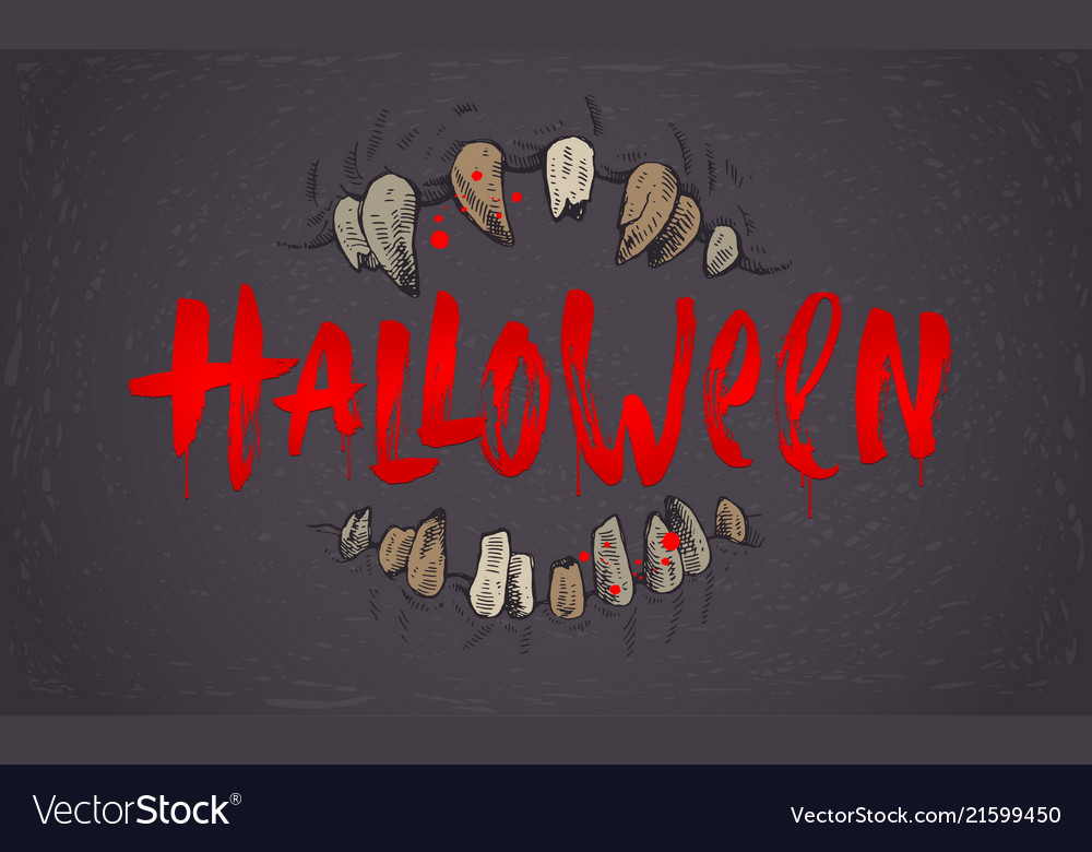 Halloween hand drawn