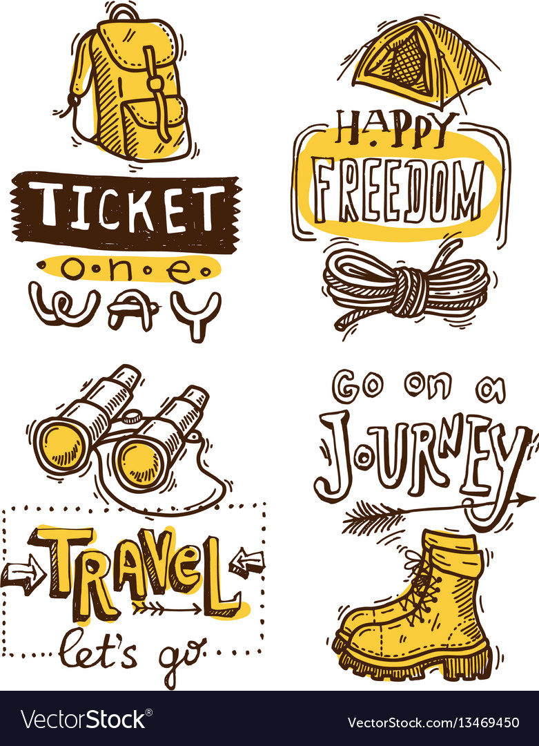 Hand drawn trawel lettering vector image