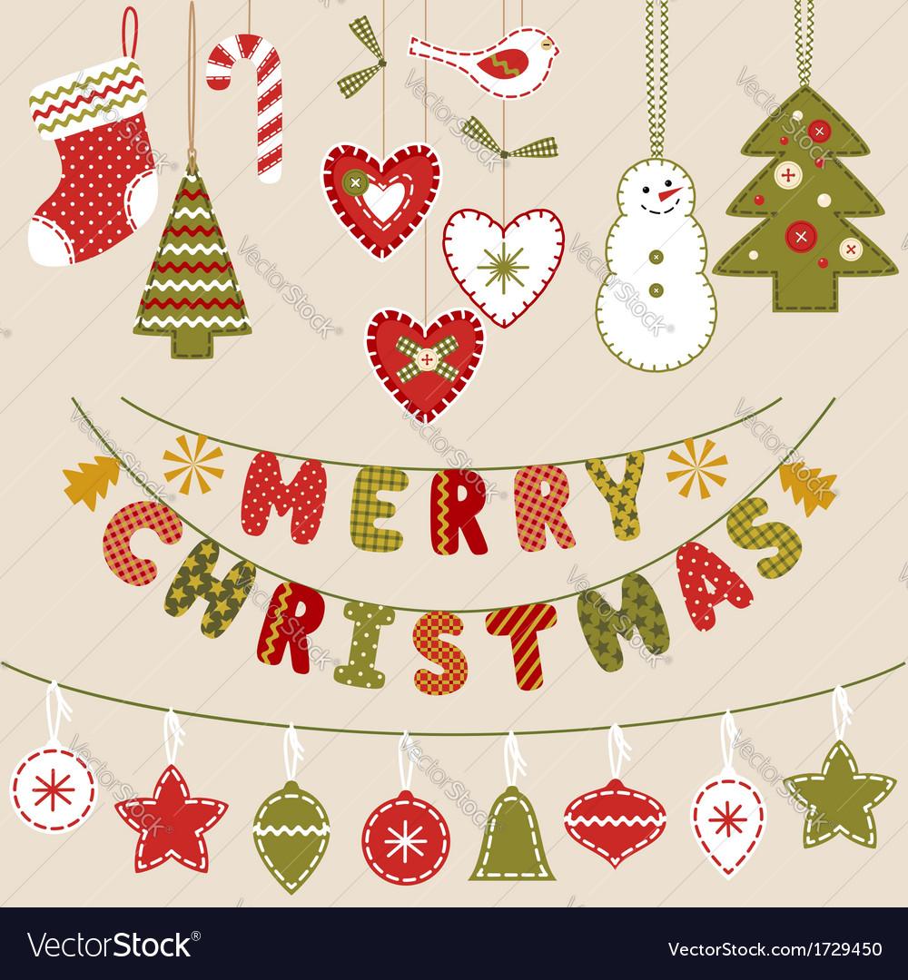 Handmade Christmas decoration vector image