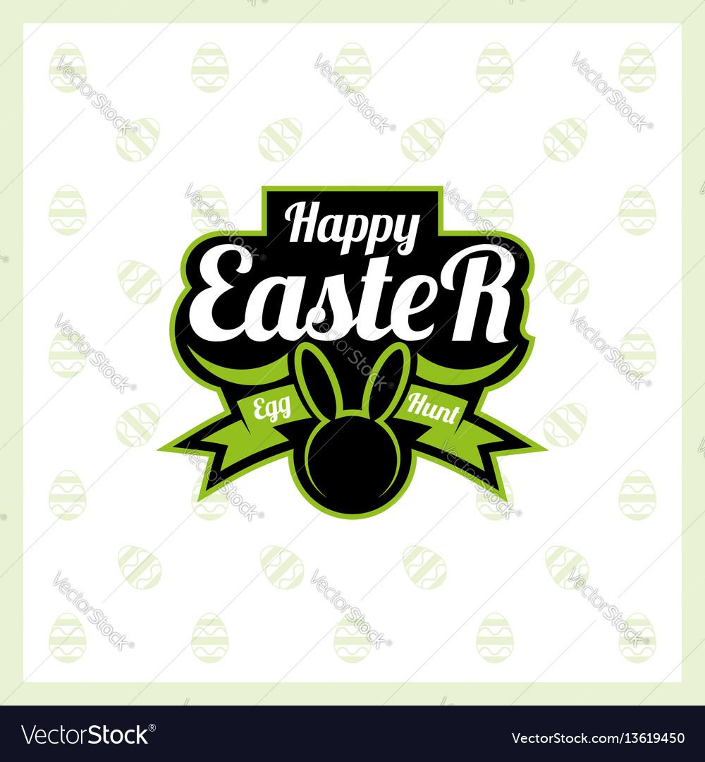Happy easter logo