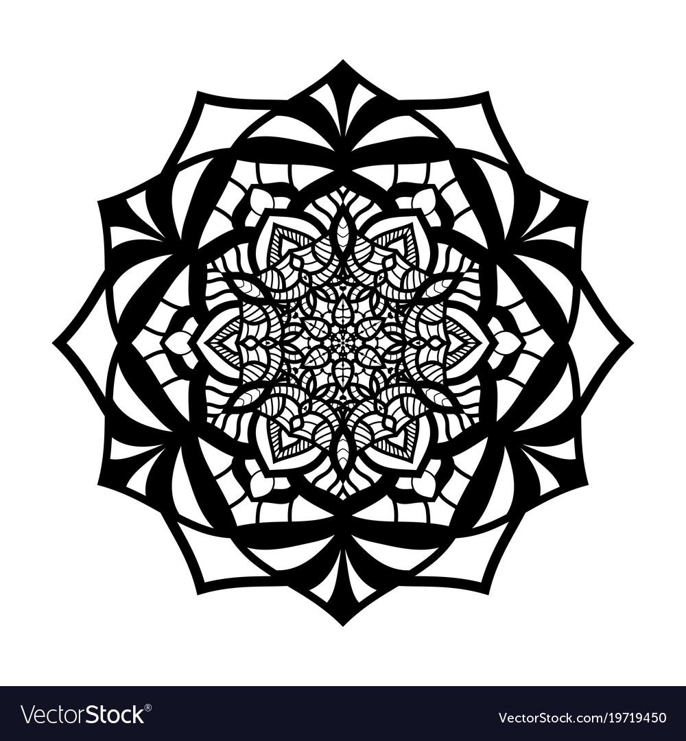 Mandala vintage isolated on white background
