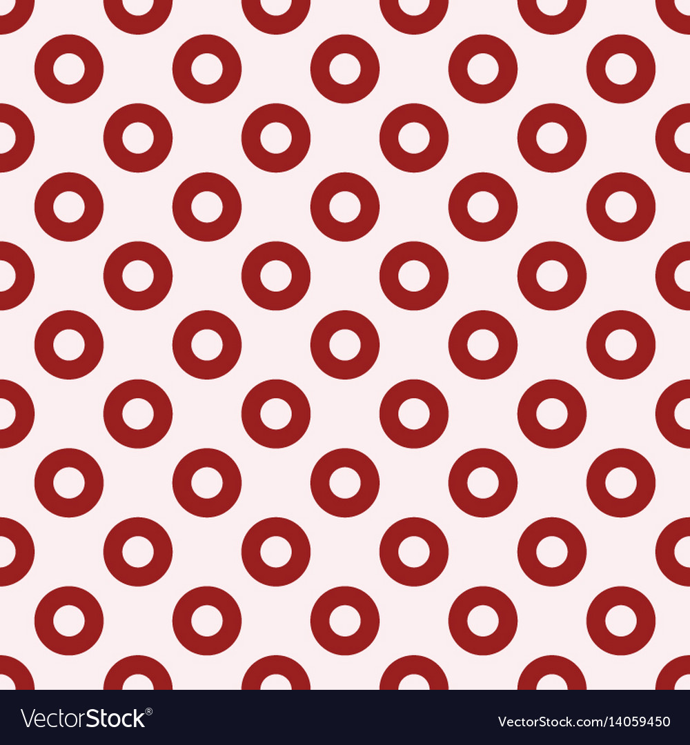 Red circles seamless pattern vector image