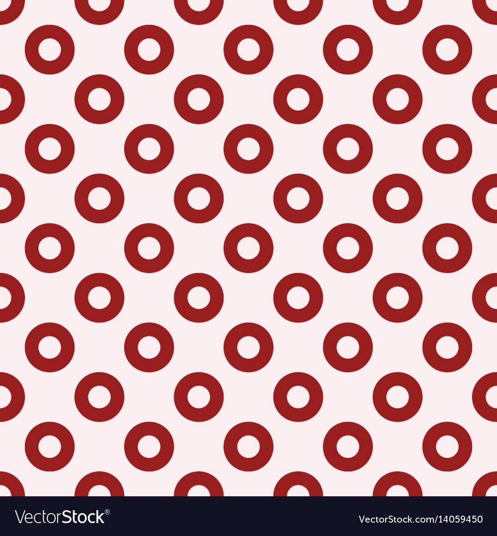 Red circles seamless pattern