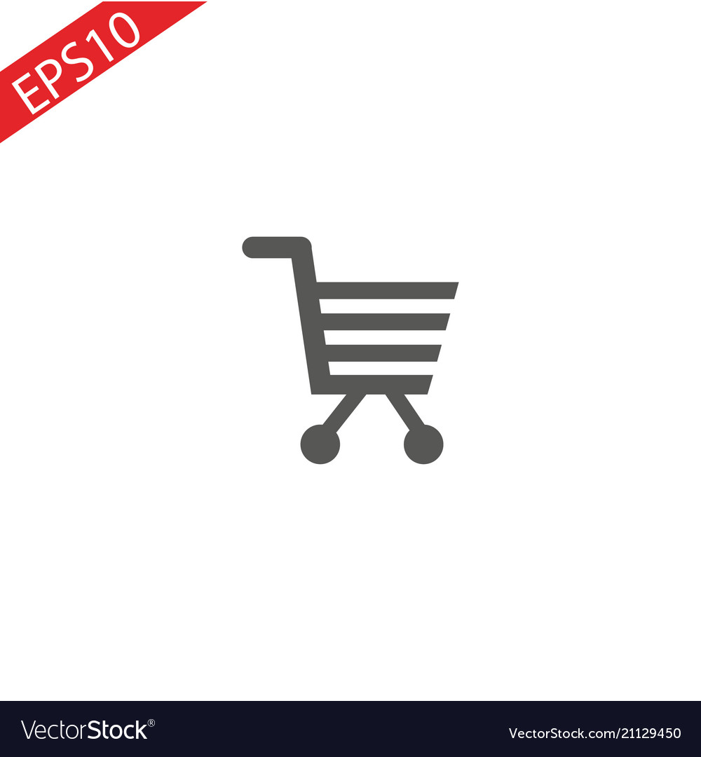 Shopping cart simple icon for web