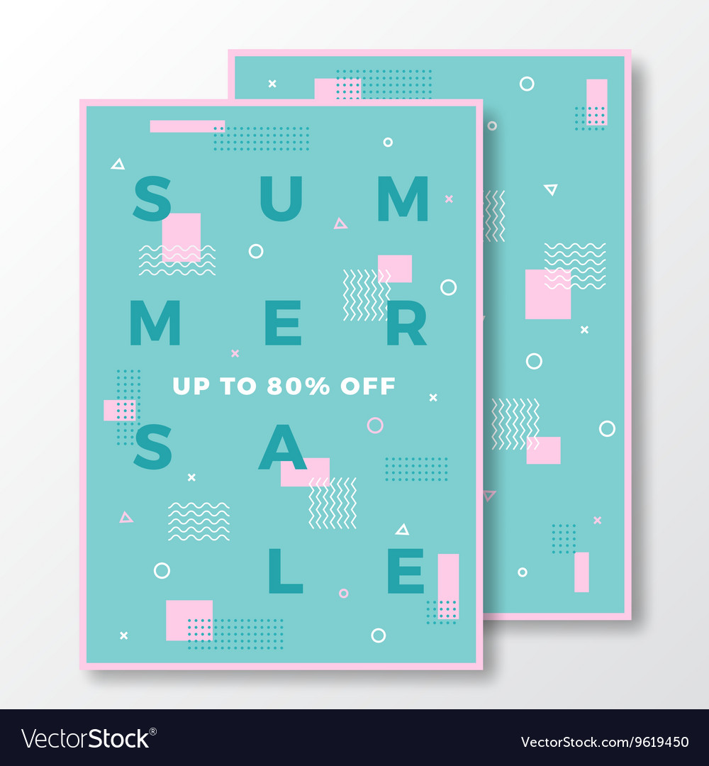 Summer Sale Poster Card or Flyer Template Modern