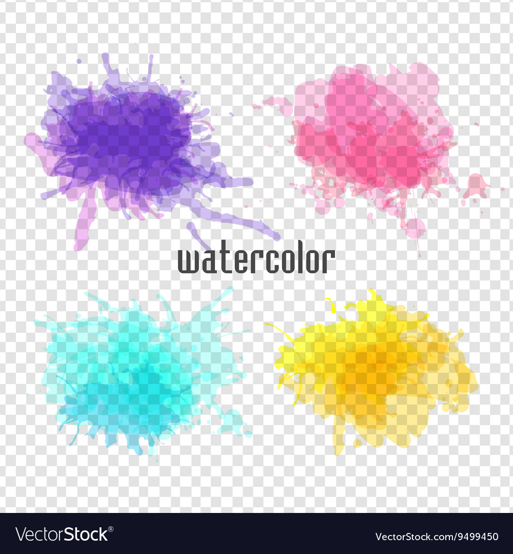 Watercolor blot for your design vector image