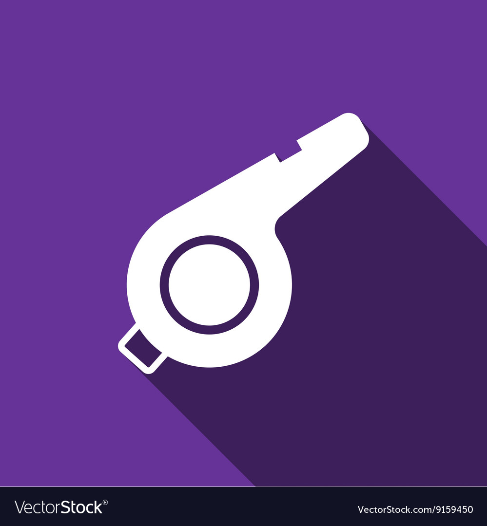 Whistle Icon with long shadow