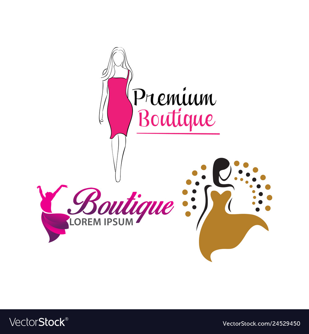 Women Shape Beauty Logo Design Royalty Free Vector Image