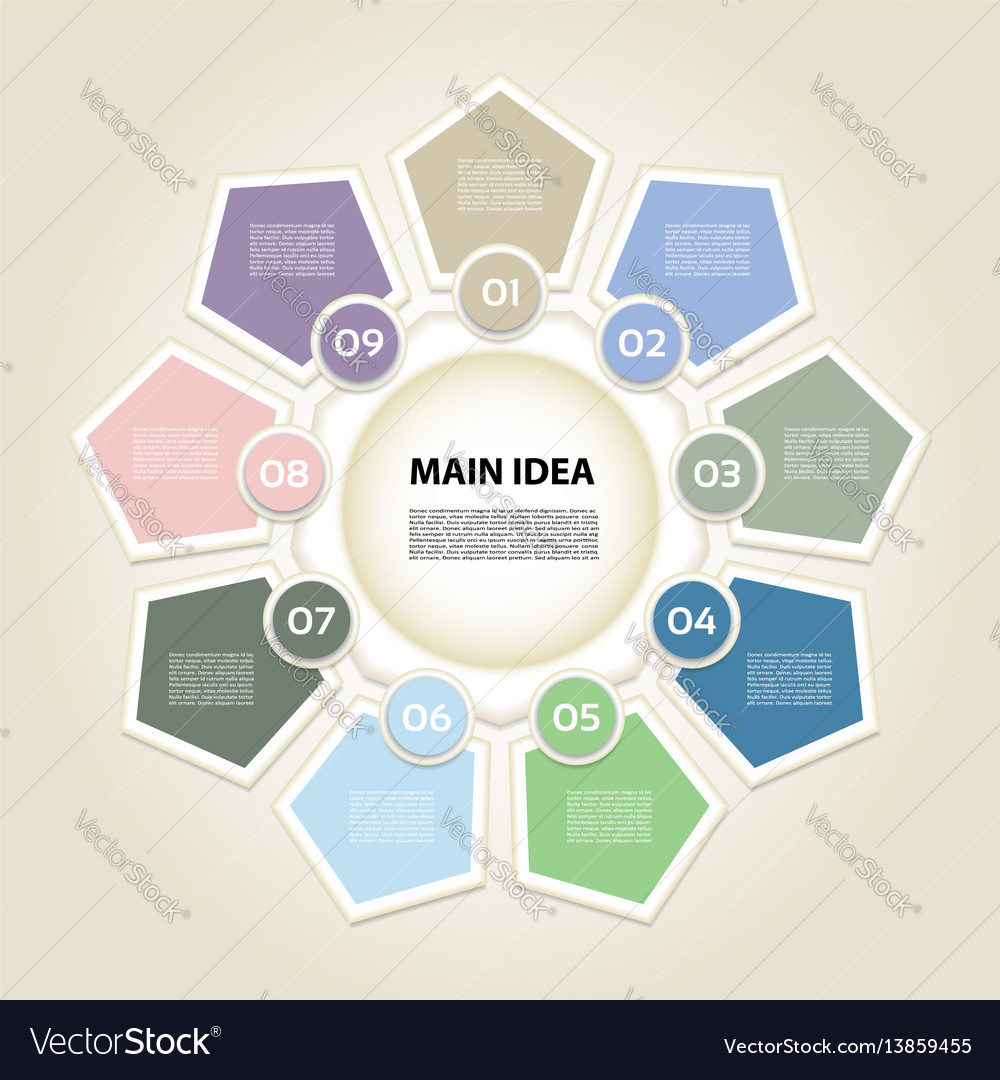 Business concept with 9 options vector image